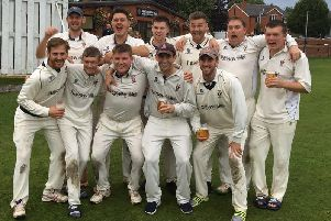 Longridge CC celebrate their Moore and Smalley Palace Shield title