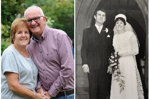 Barbara and Colin Woods celebrate their 50th wedding anniversary on Friday