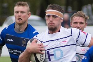 Match action from Preston Grasshoppers win over Macclesfield (photo: Mike Craig)
