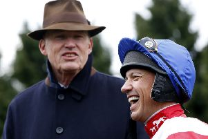 Trainer John Gosden and jockey Frankie Dettori, who proved quite a double act on Qipco Brtitish Champions Day at Ascot.