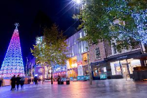 The stunning festive lights at Liverpool One. Photos: www.visitliverpool.com