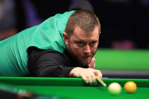 Mark Allen during his victory over Stephen Maguire.