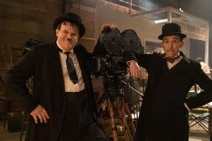 John C. Reilly as Oliver Hardy and Steve Coogan as Stan Laurel in Stan & Ollie