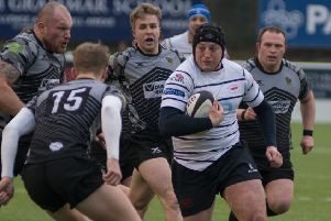 Action from Hoppers' victory over Otley (photo: Mike Craig)
