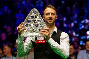 Judd Trump holds the Paul Hunter after winning the Dafabet Masters at Alexandra Palace (Picture: Steven Paston/PA Wire).