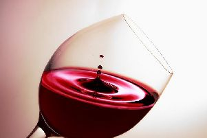Enjoying red wine