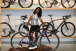 Presenter Angellica Bell is a keen advocate of cycling for health and the environment