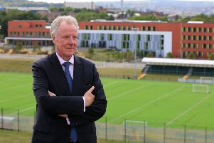 David Hobson with Sheffield Olympic Legacy Park in the background. (Picture: Chris Etchells)