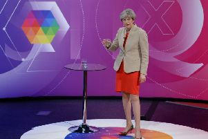 Theresa May was confronted by a nurse at the pre-election Question Time in York in 2017.