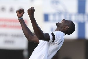 West Indies' captain Jason Holder celebrates the dismissal of England's James Anderson during the second Test (Picture: Ricardo Mazalan).