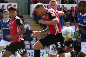 Morecambe defender Steve Old had a mixed afternoon
