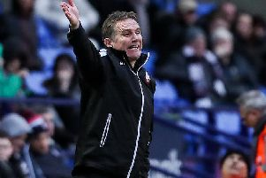Phil Parkinson dishes out instructions to his Bolton side on Saturday