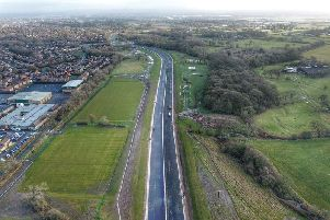 The new road aims to reduce congestion and queuing through the centre of Penwortham, especially at peak times. Pic -  Kevin Hunt.