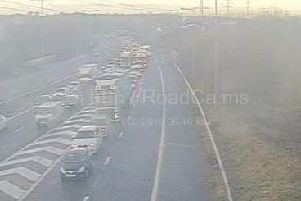 The crash happened on the M65 between eastbound junctions 3 and 2 at around 8.15am on Monday, February 11.