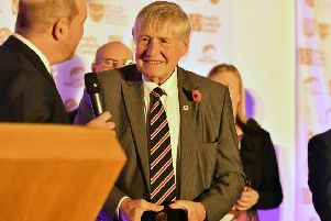 LEGEND: Johnny Whiteley at the Rugby league Hall of Fame and Golden Boot Dinner, Elland Road in November 2018.