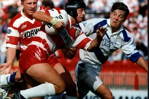 Phil Clarke in action for Wigan