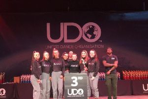 Sparkle Dance Studio's under 18s team, The Demigods, took third place at the UDO Street Dance.