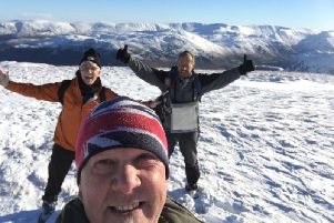 Dave Hull, Brian Turner and Chairman John Parkinson, from Foxton Centre, will be tackling 50 peaks for the centre's 50th birthday