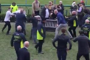 The ugly scenes at Haydock Park