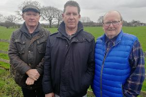 (L-R) Martin Topping, Tom Nuttall and Peter Carter - part of the Brindle Road Action Group