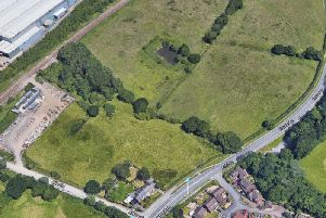 The land off Alker Lane and Euxton Lane that will be home to the new business park (Image: Google Maps)