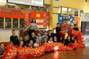 Chinese dragon dancing comes to Brookfield Primary School
