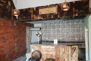 A sneak-peak of how the inside of the cafe bar looks at the moment