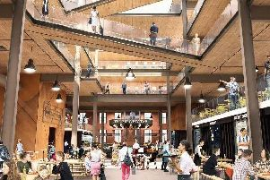 Artist's impressions of how the new Botany Bay Outlet Village could look when work is completed.
