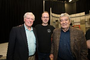 Dr Who companion Peter Purves, director Dr Andrew Ireland and Edward de Souza, who featured in the 1965 lost episode