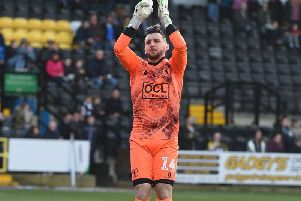 Jordan Smith applauds the Stags fans before the defeat at Notts County