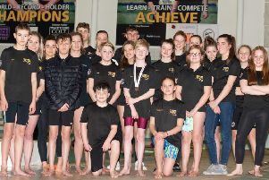 Carnforth Otters county swimmers.