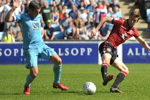 Morecambe stayed up with a draw at Coventry City on the final day last season      Picture: B&O Press Photo