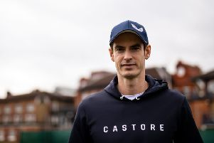 Andy Murray poses during the Castore partnership announcement at the Queen's Club, London. (Picture: Steven Paston/PA Wire)