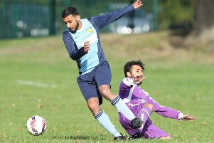 Mo Omar was among the goal scorers as Mount Pleasant defeated Battyeford 7-1 in the Heavy Woollen Championship.