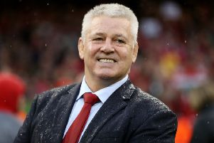 Wales' coach Warren Gatland all smiles after signing off his Six Nations career with Wales with a title.