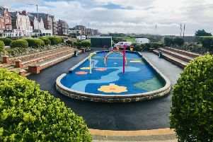 The Splash! park on St Annes' South Promenade ready for its official opening