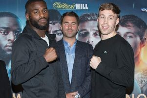 Liam Conroy, right, is looking to cause a big upset on Saturday night against Joshua Buatsi. Picture: Matchroom Boxing
