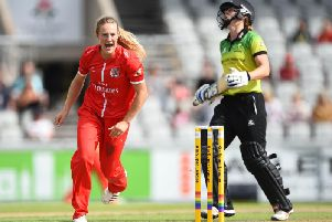 Emma Lamb in Kia Super League action for Lancashire. Picture: Getty Images