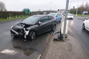 The crash on Blackpool Road, Clifton. Pic Lancs Road Police