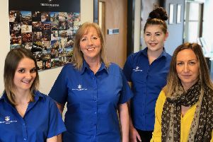From left: Melina Kennedy, Jan Moffet, Honour Williams with the Inn Collection Group's office manager Charlotte Turner at the company's central reservations hub in Alnwick.