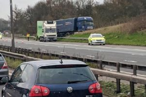 The incident on the M6 northbound