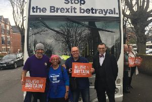A 'silent march' to protest against the way Brexit is being dealt with came through Worksop earlier today (Friday, March 22).