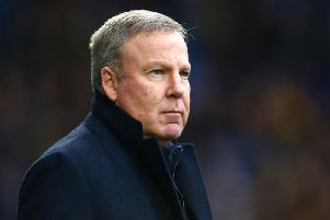 Portsmouth manager Kenny Jackett watched his side record a 2-0 win at Shrewsbury.