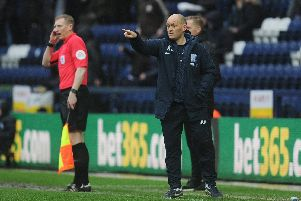 PNE boss Alex Neil gives out instructions during the win over Birmingham