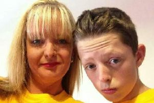 Dylan Crossey and his mum Tracey Milligan