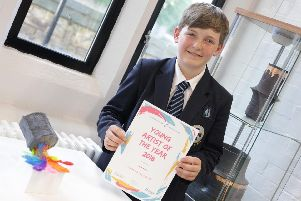 Last year's Young Artist of the Year winner in the 3D sculpture category, Oliver Lea