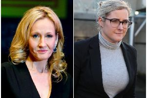 JK Rowling (left), whose former personal assistant Amanda Donaldson (right) has been ordered to repay 18,734 to the Harry Potter author after ruling she obtained the money fraudulently.