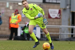 Morecambe keeper Mark Halstead      Picture: Getty Images