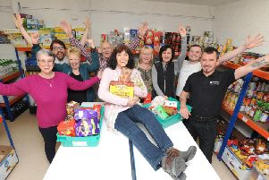 Grand opening of the new food bank warehouse at the LW Storehouse based at the LivingWaters church.  Pictured are some of the volunteers (Images: JPIMedia)