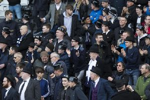 Preston fans on Gentry Day at Fulham in 2017
